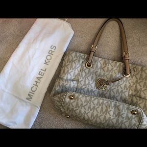 Michael Kors logo tote bag